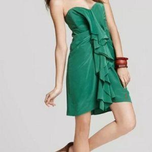 BCBGMAXAZRIA Strapless ruffle dress size 6